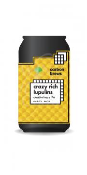 Carbon Brews, Crazy Rich Lupulins Double Hazy IPA 330ml